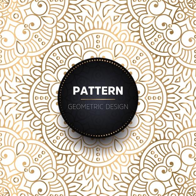 Fondo de diseño de mandala ornamental de lujo vector gratuito