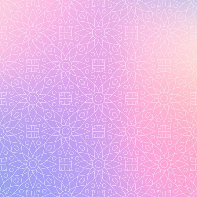 Fondo de diseño de mandala ornamental de lujo Vector Premium