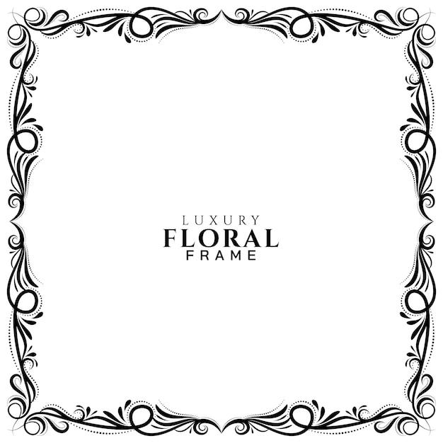 Fondo de diseño de marco floral étnico vector gratuito
