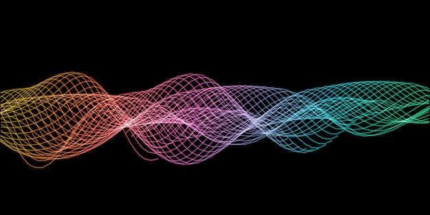 Fondo de diseño de ondas de sonido abstracto vector gratuito