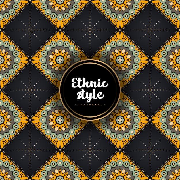Fondo de diseño ornamental de lujo. vector gratuito