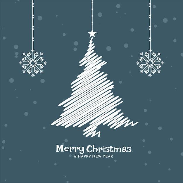 Fondo de diseño plano de celebración de feliz navidad vector gratuito