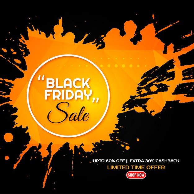 Fondo de diseño de salpicaduras amarillas de venta de viernes negro vector gratuito
