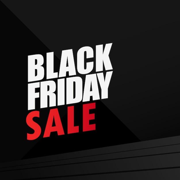Fondo de diseño de venta de viernes negro Vector Premium