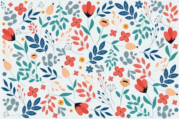 Fondo ditsy estampado floral colorido Vector Premium