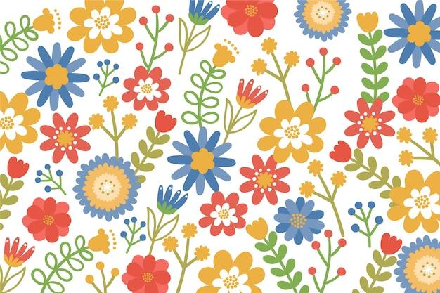Fondo ditsy estampado floral colorido vector gratuito