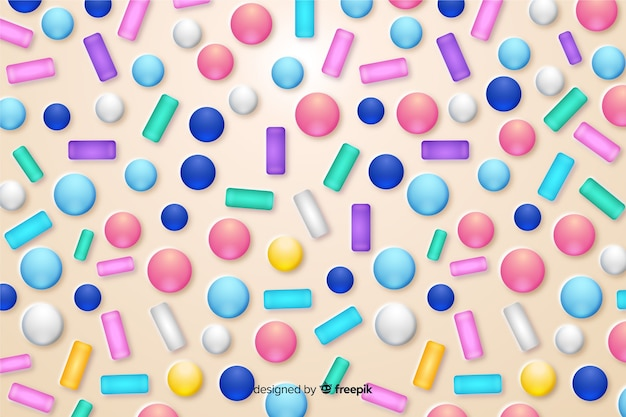 Fondo divertido esmalte donut colorido vector gratuito