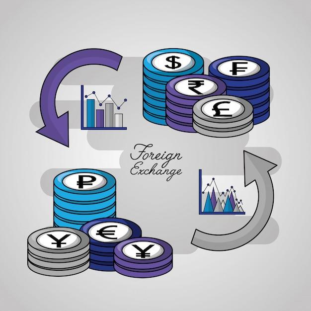Fondo de divisas vector gratuito