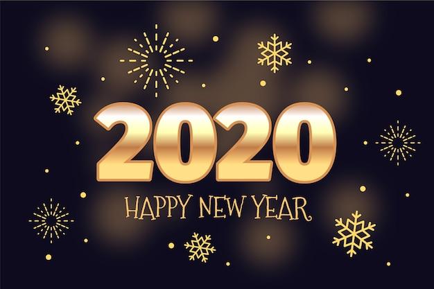 Fondo dorado año nuevo vector gratuito