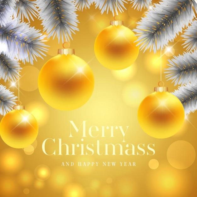 Fondo dorado con bolas de navidad doradas descargar - Bolas de navidad doradas ...