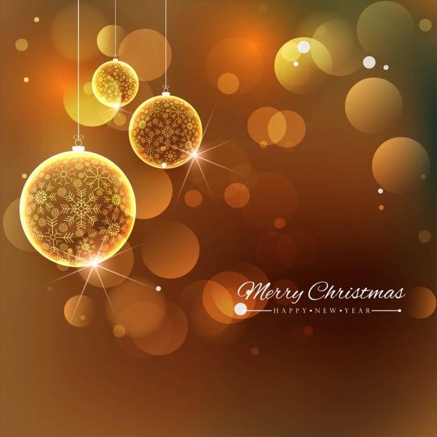Fondo dorado con bolas de navidad descargar vectores gratis - Bolas de navidad doradas ...