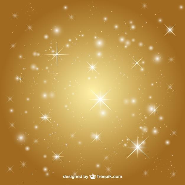 Fondo dorado con estrellas   Descargar Vectores gratis