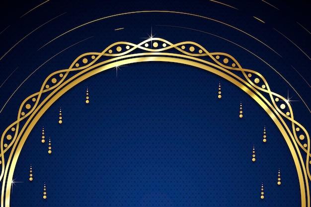 Fondo dorado de lujo con gotas y espacio de copia vector gratuito