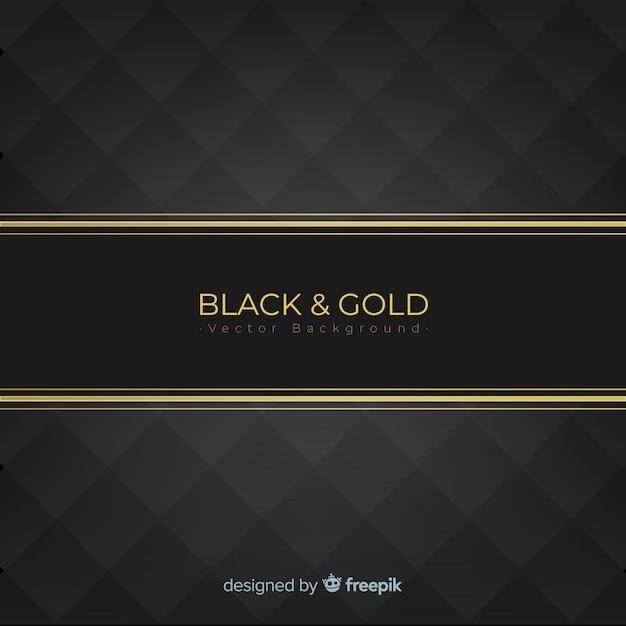 Fondo dorado y negro vector gratuito