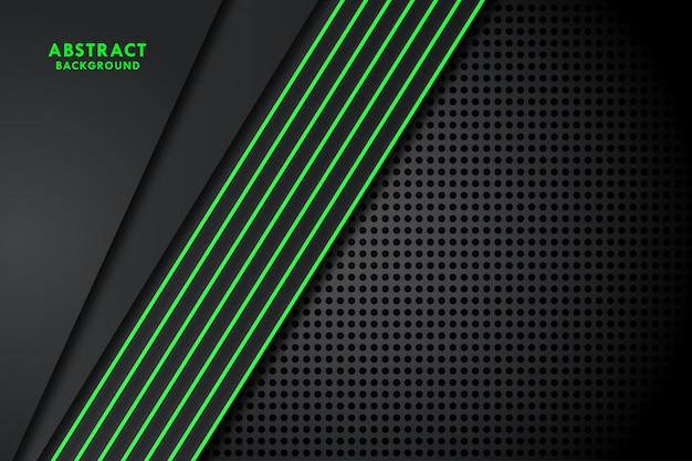 Fondo drak con línea verde Vector Premium