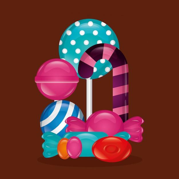 Fondo de dulces dulces vector gratuito