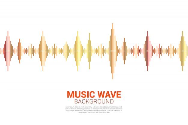 Fondo de ecualizador musical de la onda de sonido Vector Premium