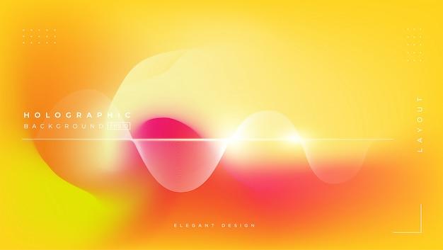 Fondo de efecto degradado holográfico borroso abstracto Vector Premium