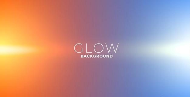 Fondo de efecto resplandor de luces en colores naranja y azul vector gratuito