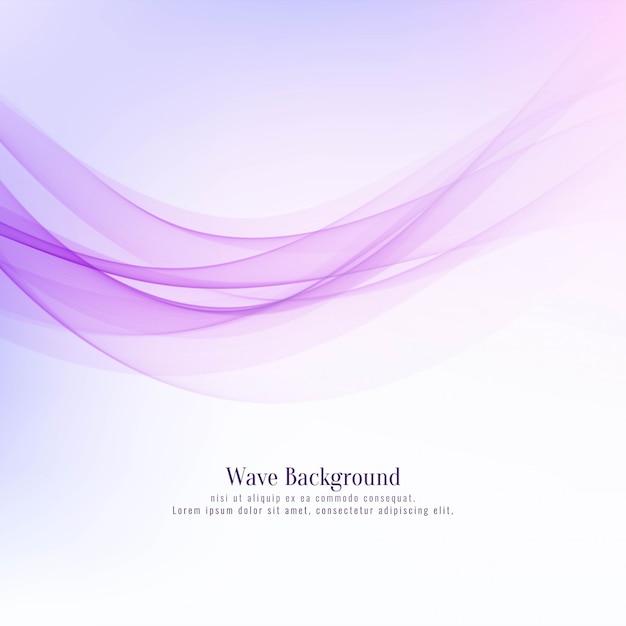 Fondo elegante abstracto del rosa del diseño de la onda Vector Premium