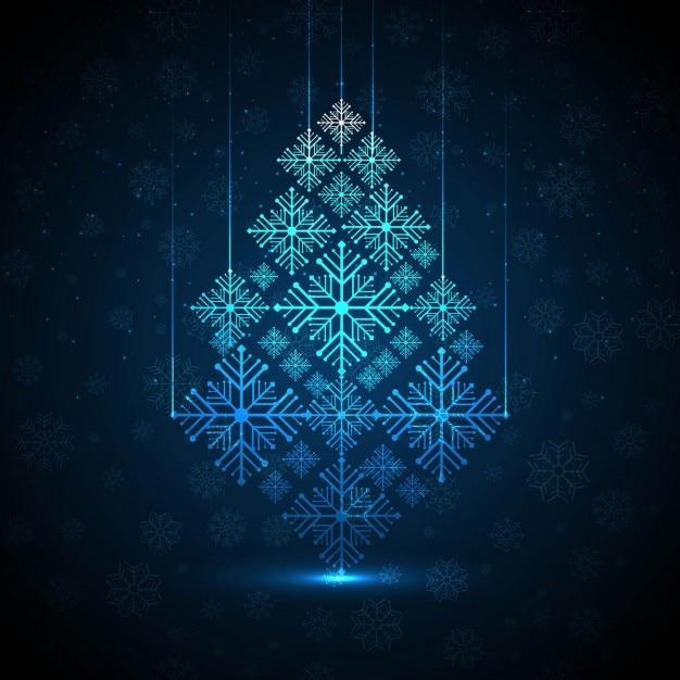 Fondo elegante de abstracto rbol de navidad con copos de - Arbol de navidad elegante ...