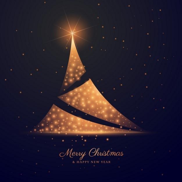 Fondo elegante de rbol de navidad abstracto dorado - Arbol de navidad elegante ...