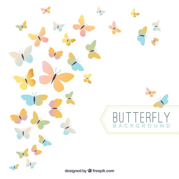 Fondo elegante de mariposas  Vector Gratis