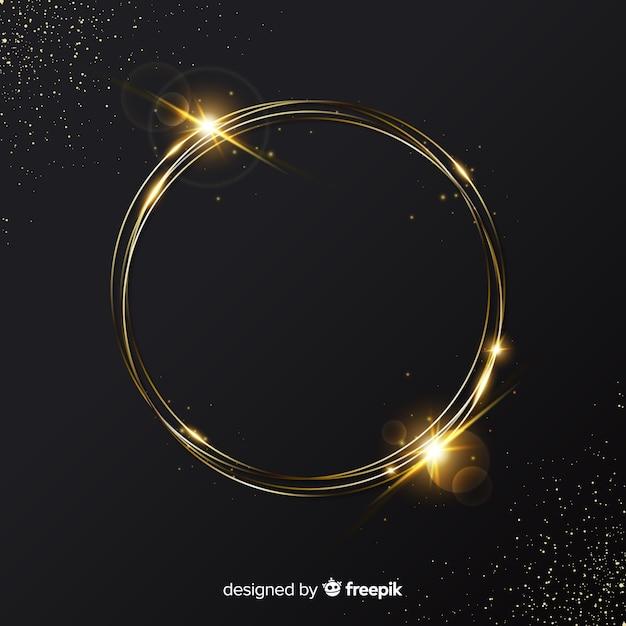 Fondo elegante de marco dorado brillante vector gratuito
