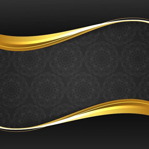 Fondo elegante moderno de onda dorada Vector Gratis