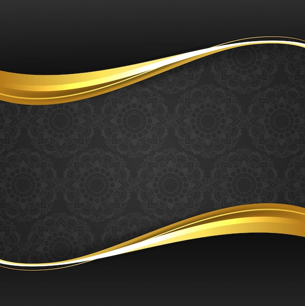 Fondo elegante moderno de onda dorada vector gratuito
