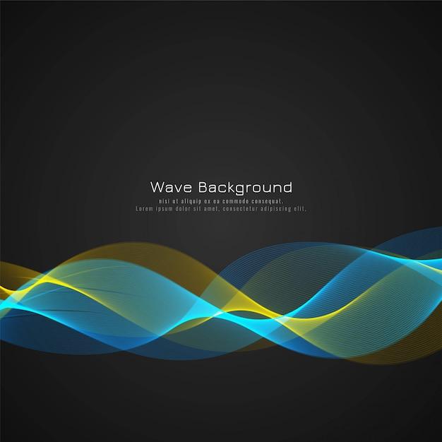 Fondo elegante de la onda colorida abstracta vector gratuito