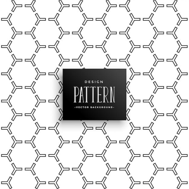 Fondo elegante patrón hexagonal vector gratuito