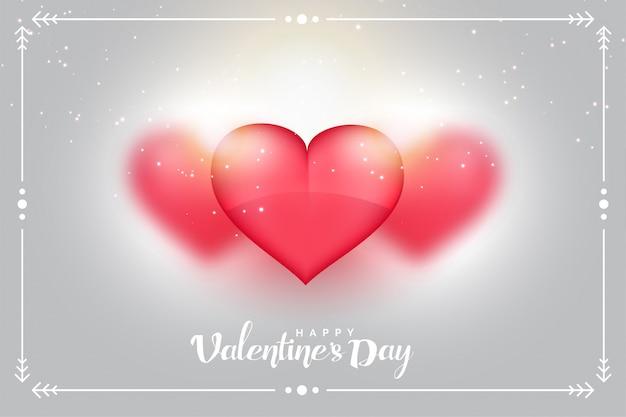 Fondo encantador de los corazones para el día de tarjetas del día de san valentín vector gratuito