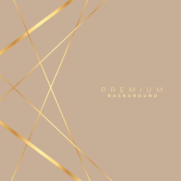 Fondo encantador de líneas doradas de baja poli elegante vector gratuito