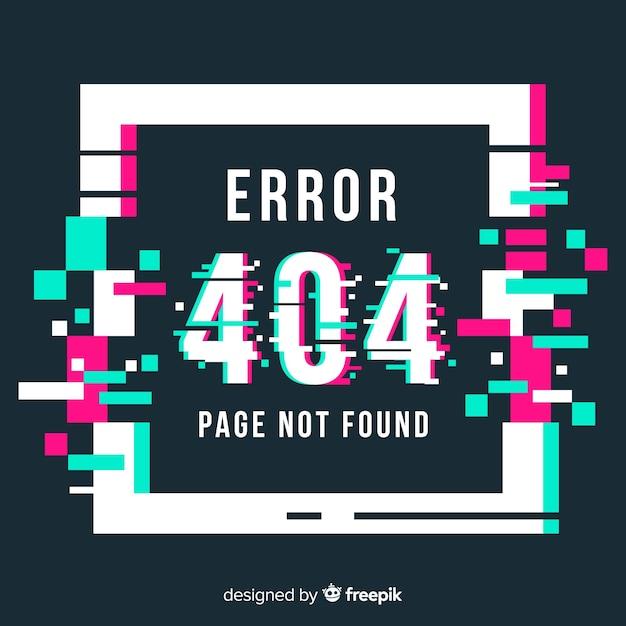 Fondo de error de página Vector Premium