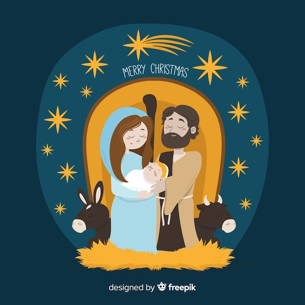 Fotos Del Nacimiento De Navidad.Fondo Escena De Nacimiento De Navidad Descargar Vectores