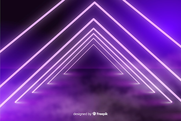 Fondo de escenario de luces de neón vector gratuito