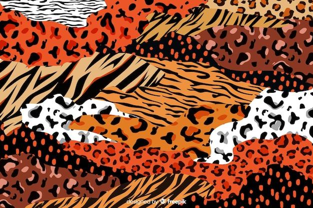 Fondo de estampados de animales africanos vector gratuito