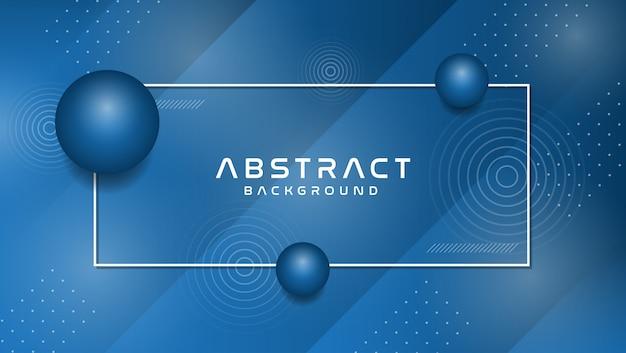 Fondo con estilo abstracto de memphis en color azul moderno Vector Premium