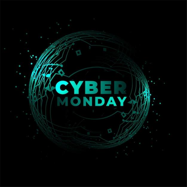 Fondo de estilo de circuito de tecnología de ciber lunes vector gratuito
