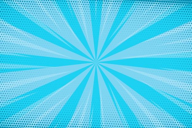 Fondo de estilo cómico de velocidad azul punteado vector gratuito