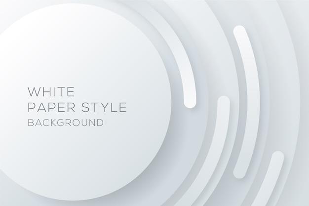 Fondo de estilo de papel circular blanco Vector Premium