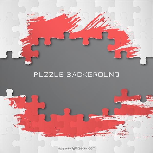 Fondo estilo puzle con pinceladas de pintura vector gratuito