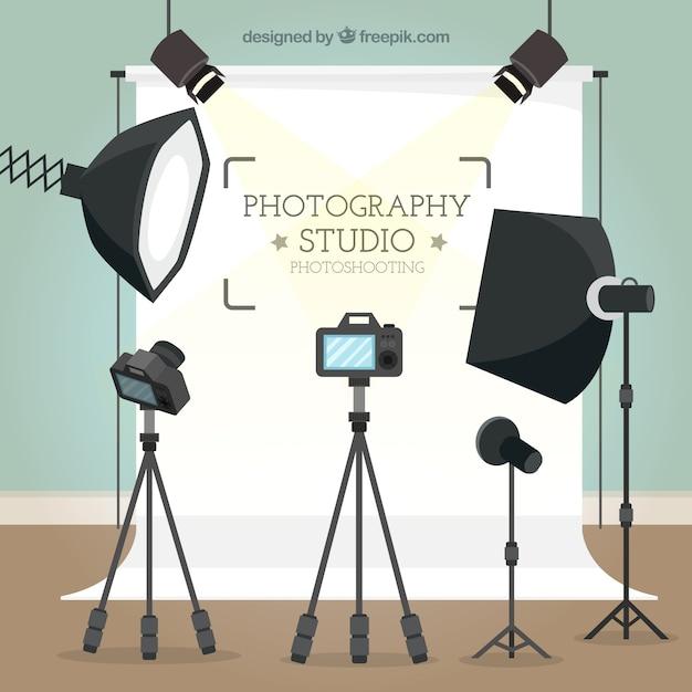 Fondo de estudio de fotografía vector gratuito