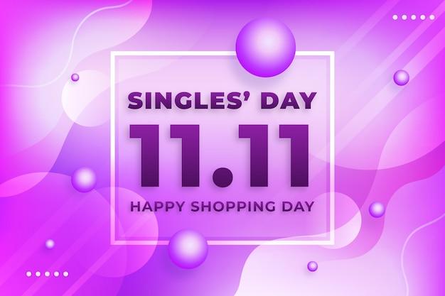 Fondo del evento del día de los solteros vector gratuito