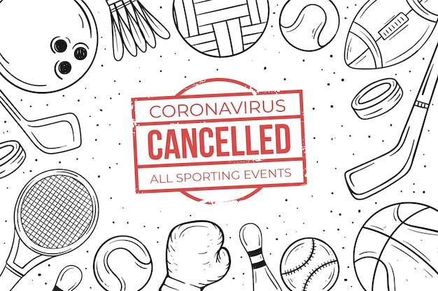 Fondo de eventos deportivos cancelados vector gratuito