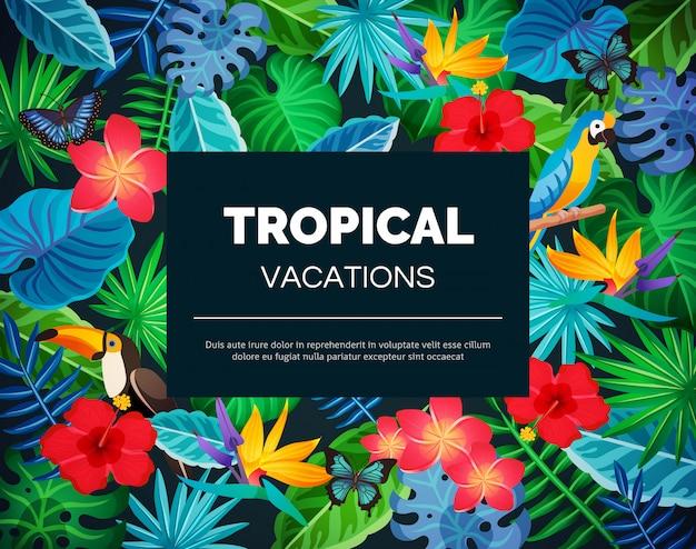 Fondo exótico tropical vector gratuito