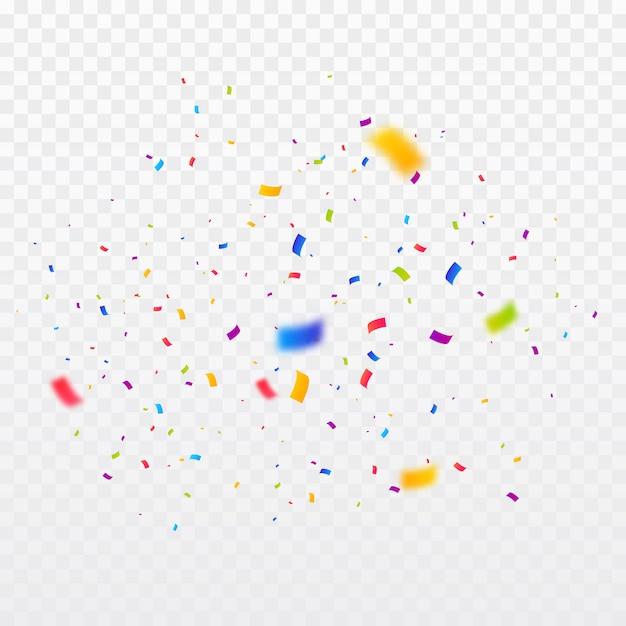 Fondo de explosión de confeti multicolor Vector Premium