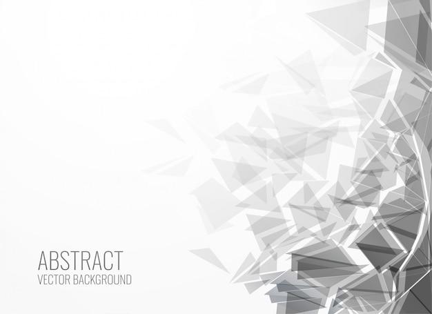 Fondo de explosión de forma de triángulo abstracto vector gratuito