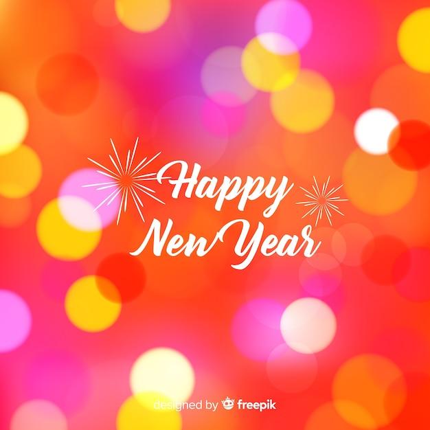Fondo de feliz año nuevo vector gratuito